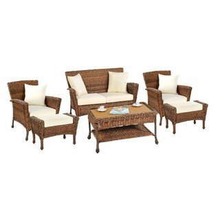 Runge Garden Patio 6 Piece Sofa Seating Group with Cushions