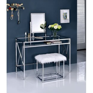 Everly Quinn Enid Contemporary Vanity Set with Mirror