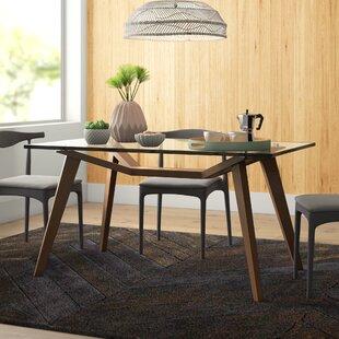 Modern Glass Rectangular Dining Tables Allmodern