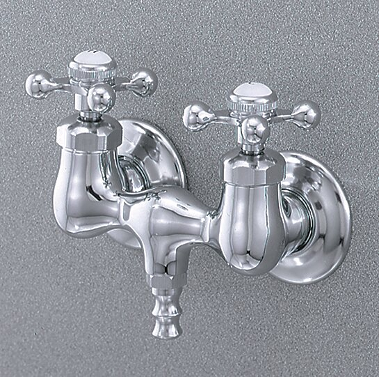 Cheviotproducts Double Handle Wall Mounted Clawfoot Tub Faucet Trim Wayfair