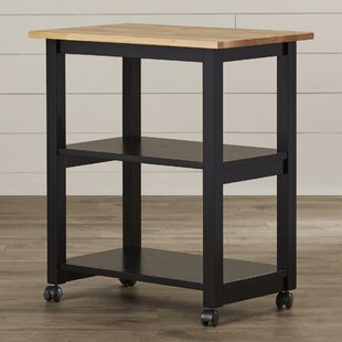 Rolen Kitchen Cart with Butcher Block Top by August Grove