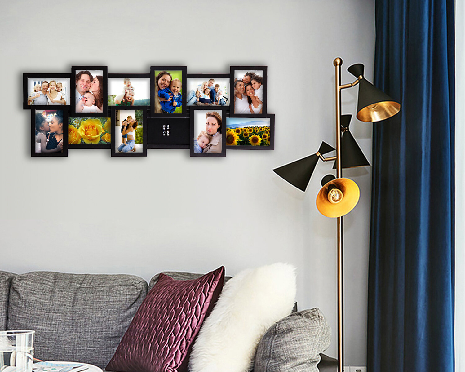 Ebern Designs Cadmium Selfie Collage Wall Hanging Picture Frame Reviews Wayfair