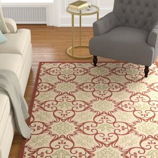 Oriana Ivory & Rust Indoor/Outdoor Area Rug