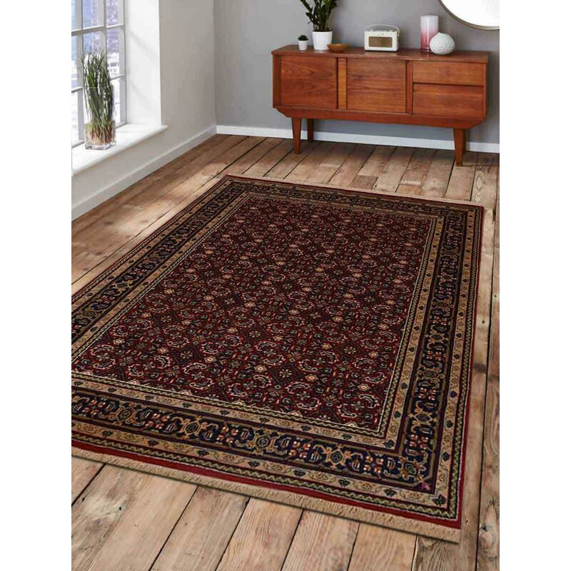 Astoria Grand Shephard Hand Knotted Wool Red Area Rug Wayfair