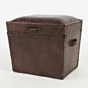 Arnoldo Leather Storage Trunk by Williston Forge