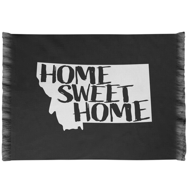 East Urban Home Home Sweet Montana Black Area Rug Wayfair