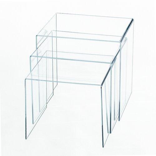 3-tlg. Satztisch-Set Cybil | Wohnzimmer > Tische > Satztische & Sets | Transparent | Metro Lane