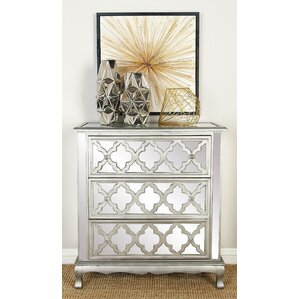 3 Drawer Wood Mirror Dresser by Cole & Grey