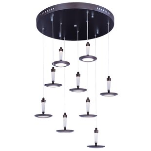 Busby Modern 9-Light Cluster Pendant by Orren Ellis
