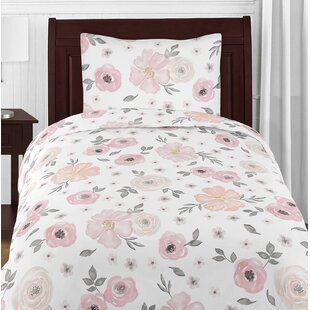 Nature floral pink comforters sets youll love wayfair floral comforter set mightylinksfo