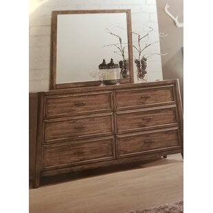 Nathen 6 Drawer Double Dresser with Mirror
