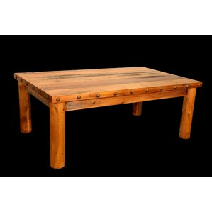 Barnwood Coffee Table with Round Legs by Uta..