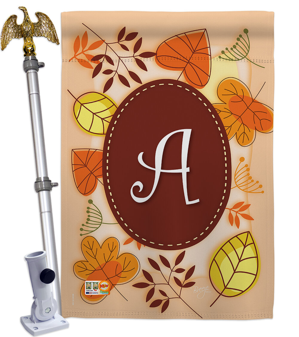 Breeze Decor Autumn Initial 2 Sided Polyester 40 X 28 In Flag Set Wayfair
