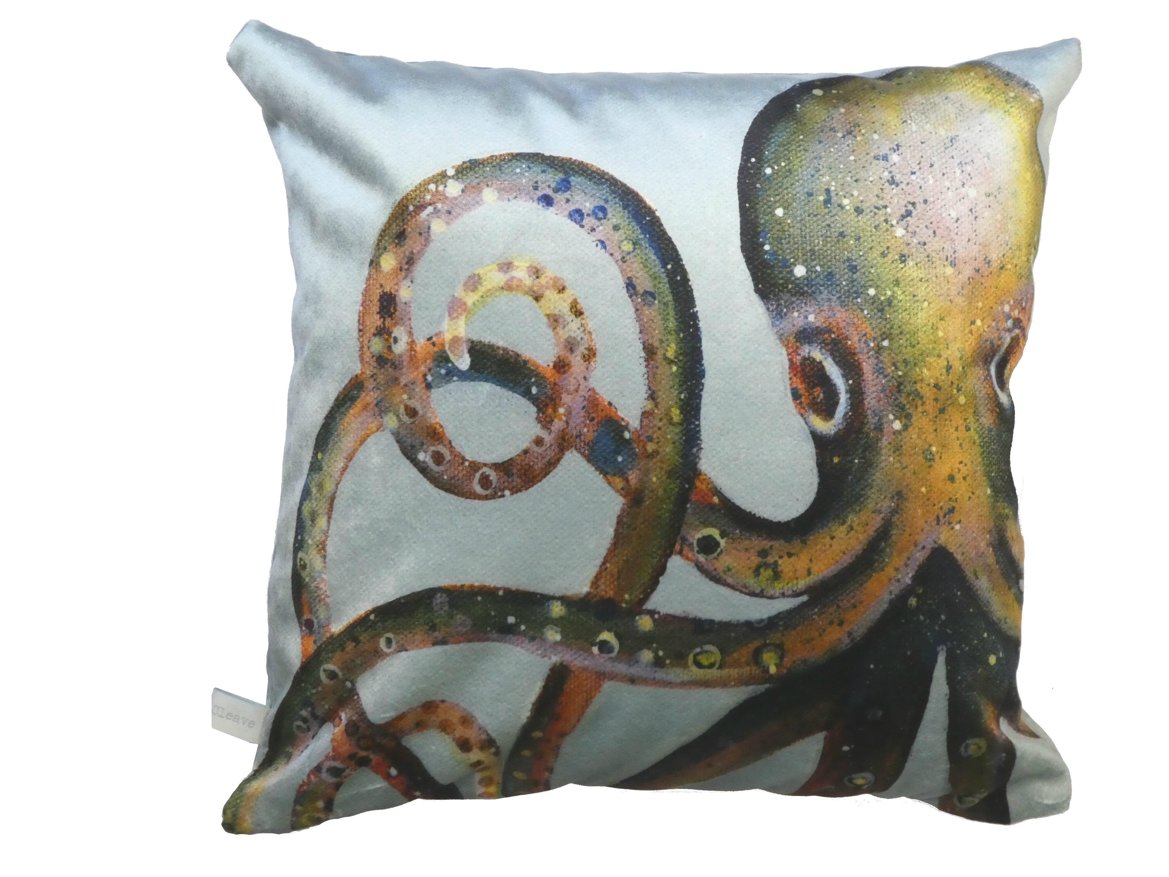 Emma Ball Octopus Velvet Cushion Cover Wayfair Co Uk