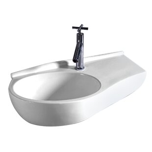 Big Save Isabella Vitreous China 24 Wall Mount Bathroom Sink ByWhitehaus Collection