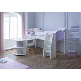 Cypress Mid Sleeper Bed With Extension Desk By Isabelle & Max
