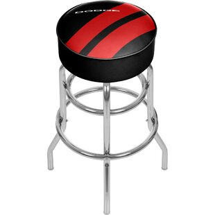Dodge Big Stripe 31 Swivel Bar Stool Trademark Global