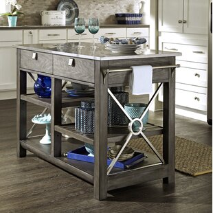 Trisha Yearwood Home Collection Music City 'Here Comes Temptation' Kitchen Island with Stainless Steel Top