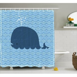 Turner Sea Animal Wavy Patterns Single Shower Curtain