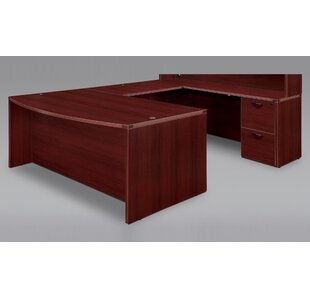 Fairplex Front Grommet Holes U-Shape Executive Desk by Flexsteel Contract Herry Up