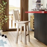 Abella Swivel Solid Wood 24 Counter Stool by Loon Peak®