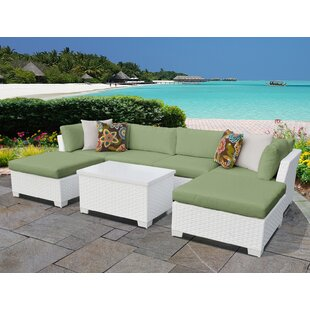 Monaco 7 Piece Sectional Seating Group with Cushions by TK Classics