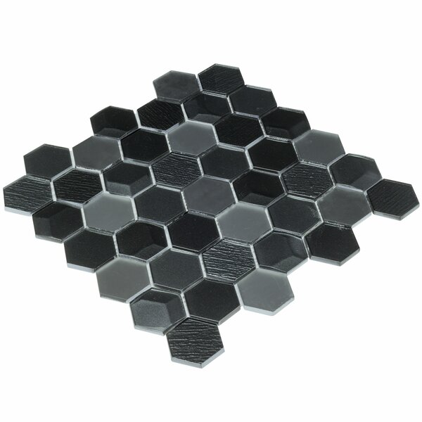 Glossy Black Hexagon Tile Wayfair