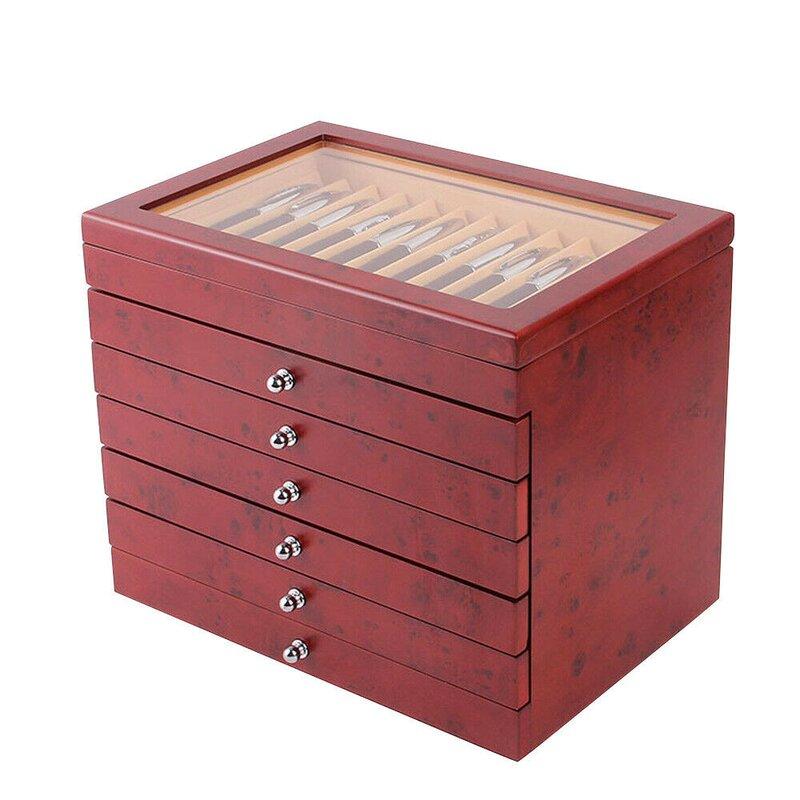 56 Fountain Pen Display Box Organizer Wood Storage Collection Tray Cas