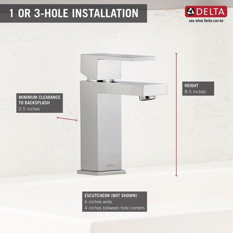 hole fancy single matte delta black trinsic faucet bathroom handle