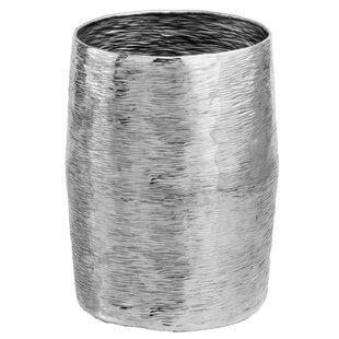 Barril Silver Accent Stool by Modern Day Accents