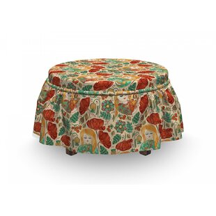 Girls Cats And Birds Ottoman Slipcover (Set Of 2) By East Urban Home