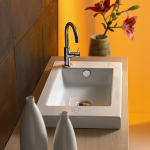Big Save Serie 35 Ceramic Rectangular Drop-In Bathroom Sink with Overflow By Ceramica Tecla by Nameeks