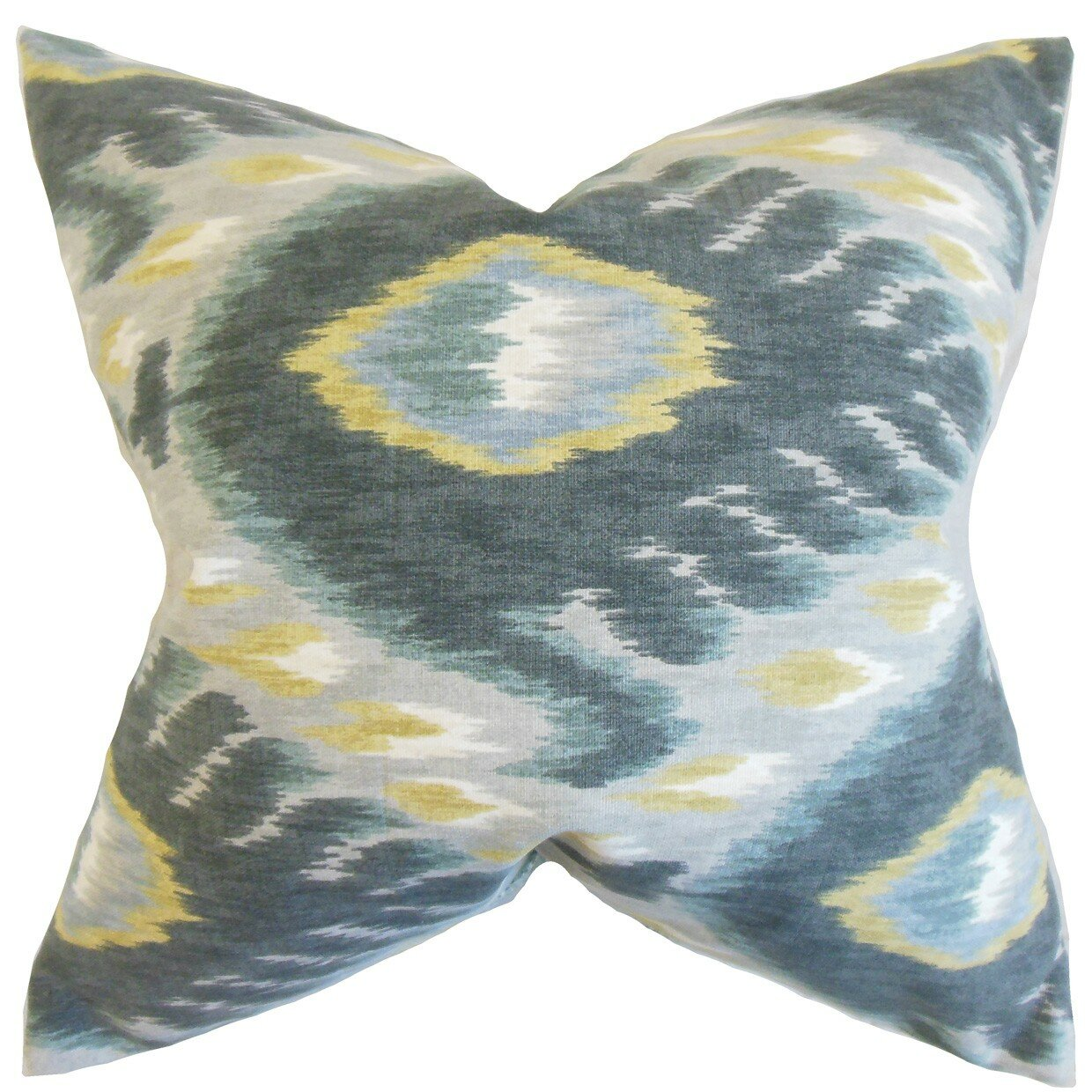 The Pillow Collection Barnum Ikat Outdoor Throw Pillow Cover