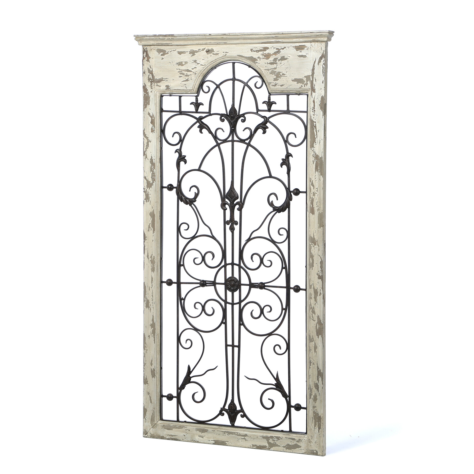Wood And Metal Door Wall Decor Delectable One Allium Way Gate White Wood And Metal Wall Décor & Reviews Design Decoration