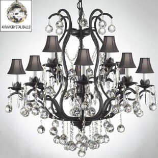 Astoria Grand Alvan 12-Light Bell Shade Shaded Chandelier