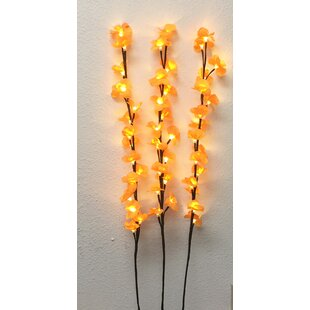 Creative Motion 3 Piece 48 Light Branch Orchid Blossom Tree Light