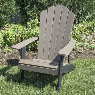 Vazquez Simulated Outdoor Wood Adirondack Chair (Set of 2) by Rosecliff Heights