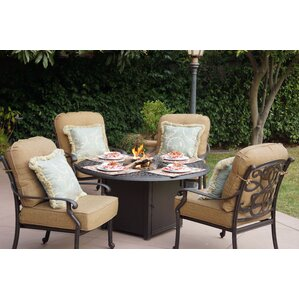 Calhoun 5 Fire Pit Seating Group With Cushions