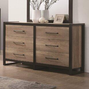 Williston Forge Lannie 6 Drawer Double Dresser