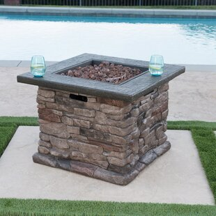 Foundry Select Lansdown Square Magnesium Oxide Propane Fire Pit