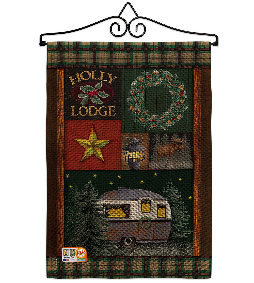 Breeze Decor Holly Lodge Winter Wonderland Impressions 2 Sided Burlap 19 X 13 In Garden Flag Wayfair