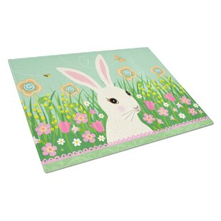 Glass Easter Bunny Cutting Board
