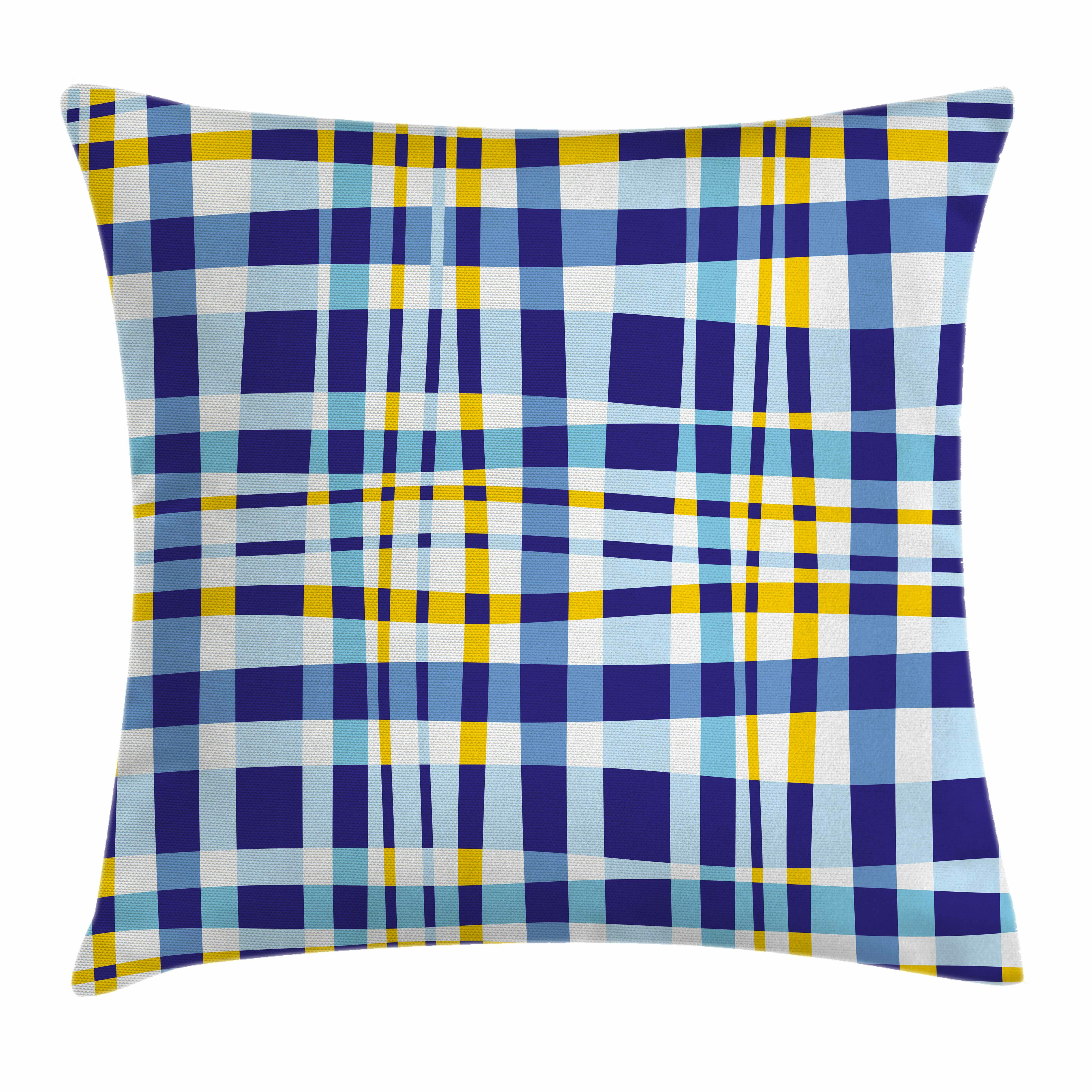 East Urban Home Scottish Tartan Square Pillow Cover