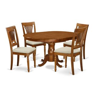 East West Furniture Portland 5 Piece Extendable Dining Set