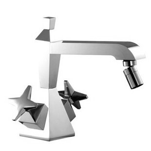 Fima by Nameeks Mp1 Double Handle Horizontal Spray Bidet Faucet with Single Hole