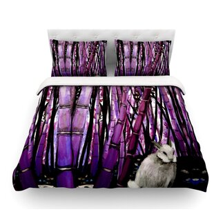 Bamboo Bunny by Theresa Giolzetti Featherweight Duvet Cover
