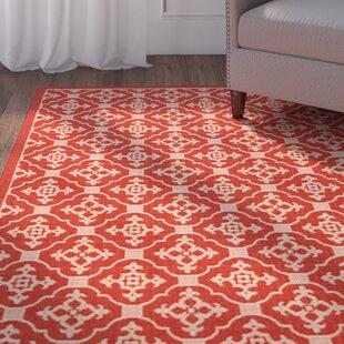 Herefordshire Red/Beige Indoor/Outdoor Area Rug