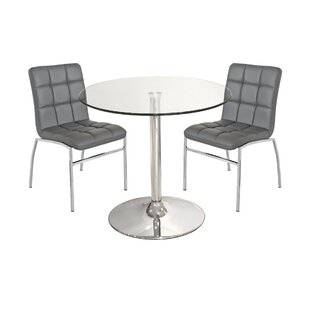 Showalter Dining Set With 2 Chairs By Mercury Row