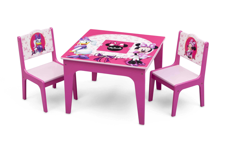 Stupendous Minnie Mouse Kids 3 Piece Writing Table And Chair Set Frankydiablos Diy Chair Ideas Frankydiabloscom