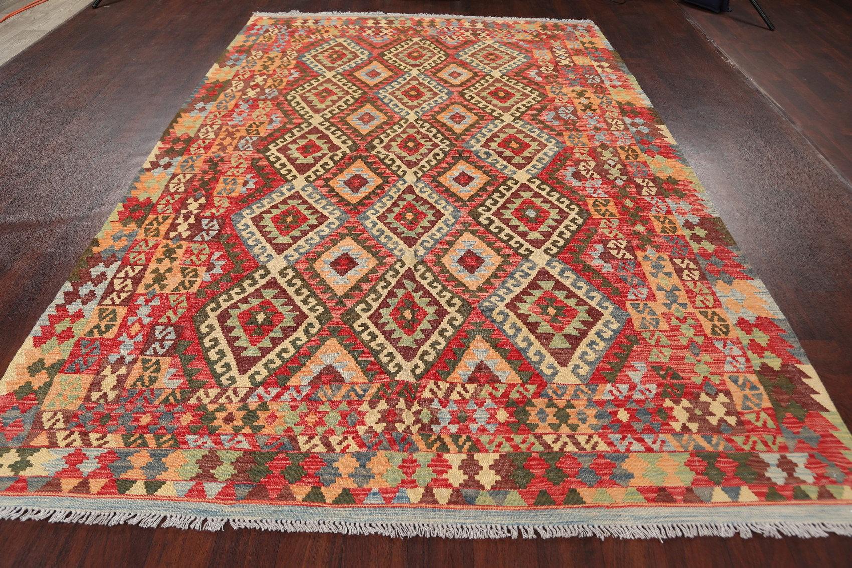 Rugsource Oriental Handmade Kilim Wool Orange Beige Area Rug Wayfair